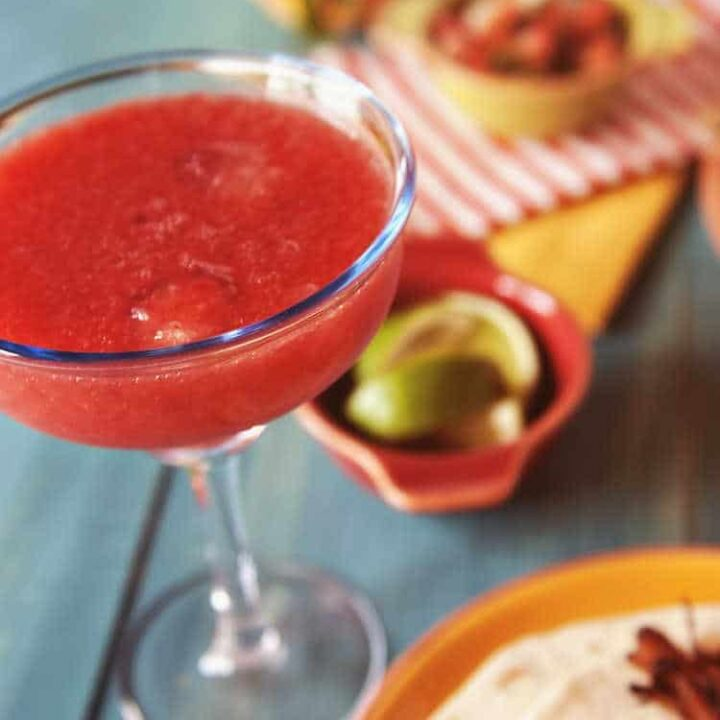 Strawberry Margaritas for One