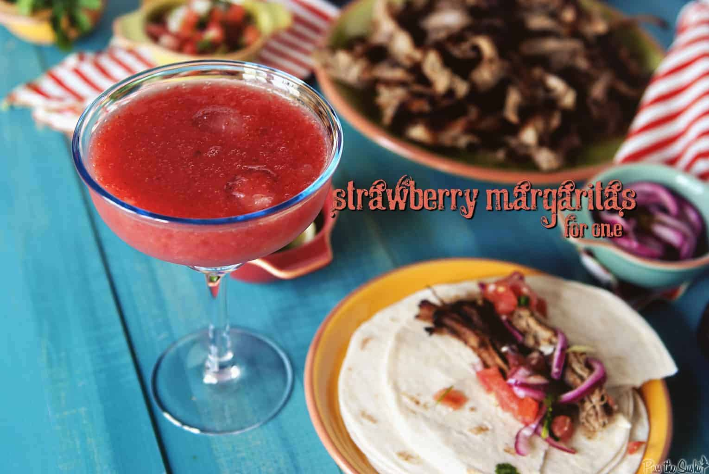 Strawberry Margarita | Kita Roberts PassTheSushi.com