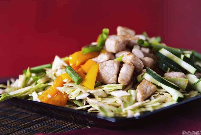 Asian Pork and Cabbage Salad   Kita Roberts PassTheSushi.com