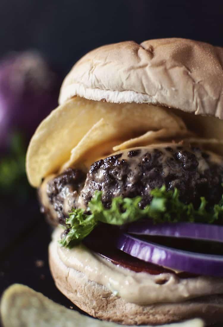 Bobby Flay's Crunchburger | Kita Roberts PassTheSushi.com