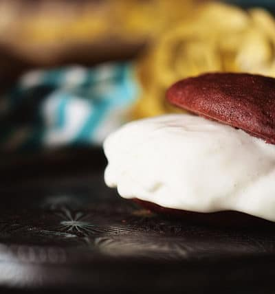 Red Velvet Ice Cream Sandwiches via PasstheSushi.com