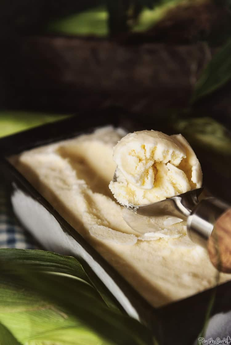 Farmer's Market Sweet Corn Ice Cream | Kita Roberts PassTheSushi.com