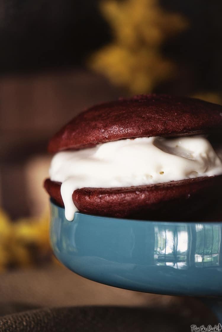 Red Velvet Ice Cream Sandwiches | Kita Roberts PassTheSushi.com