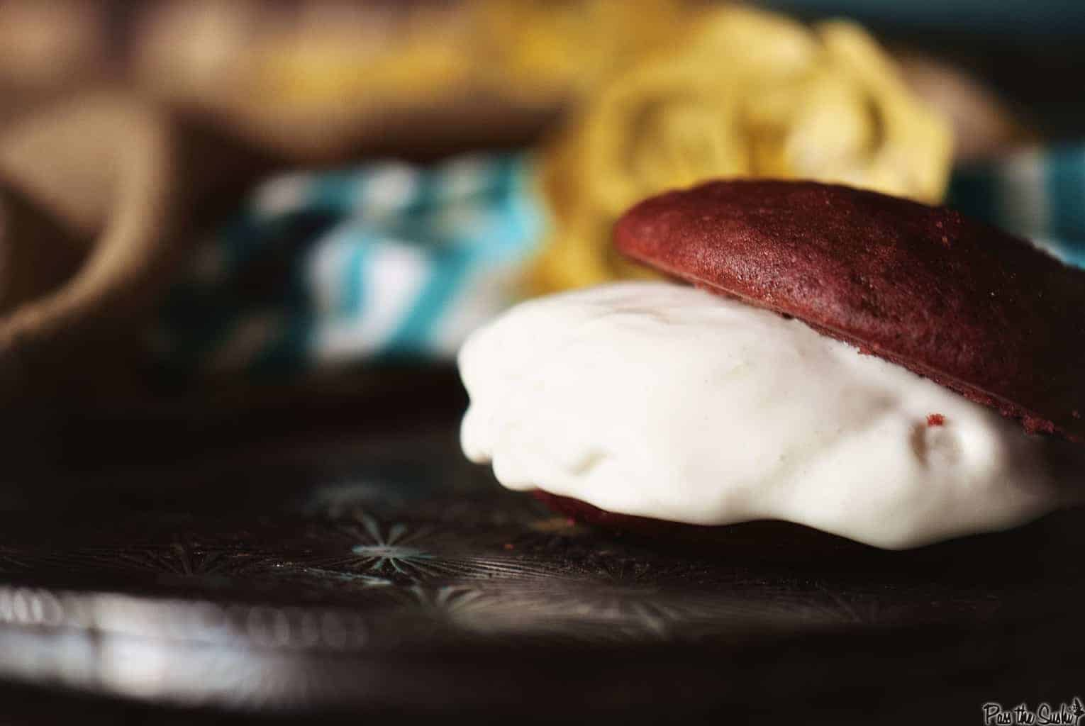 Red Velvet Ice Cream Sandwiches | Kita Roberts PassTheSushi.com