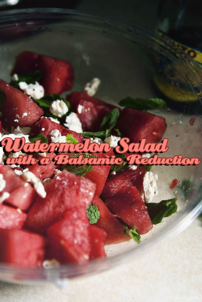 Watermelon Salad with a Balsamic Reduction | Kita Roberts PassTheSushi.com