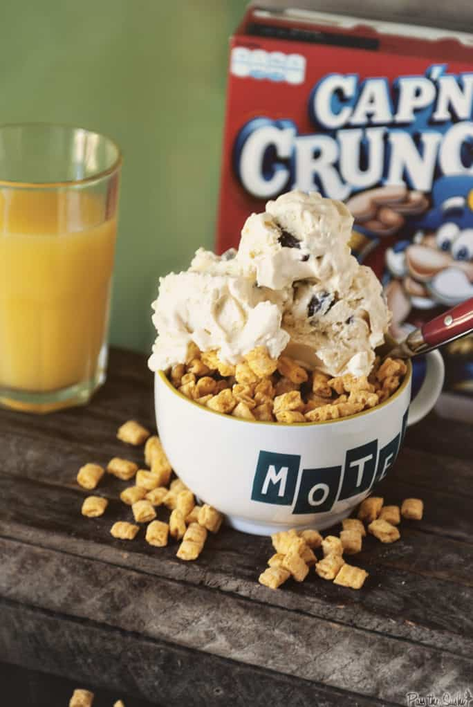 Cap'n Crunch Ice Cream with chocolate chips | Kita Roberts PassTheSushi.com