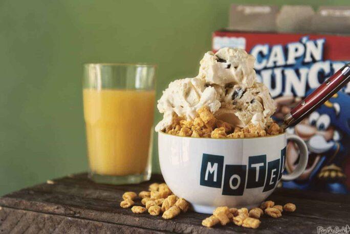 Cap'n Crunch Chocolate Chip Ice Cream | Kita Roberts PassTheSushi.com