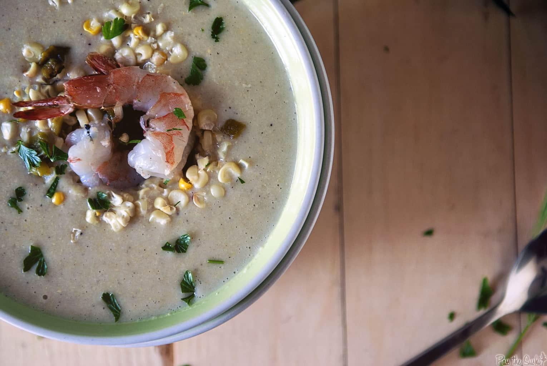 Grilled Corn Chowder | Kita Roberts PassTheSushi