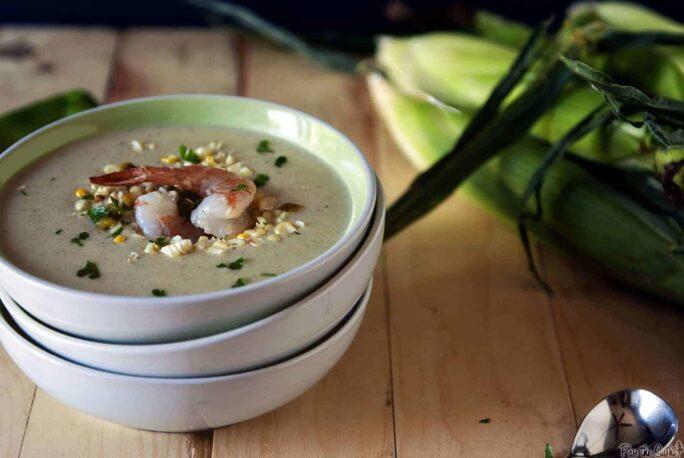 Grilled Corn Chowder | Kita Roberts PassTheSushi.com