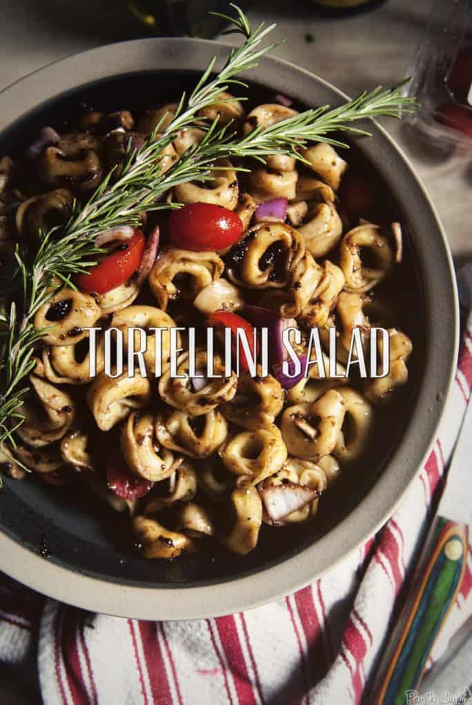 Tortellini Pasta Salad | Kita Roberts PassTheSushi.com