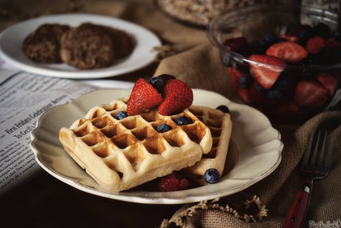 Belgian-Style Yeast Waffles | Kita Roberts PassTheSushi.com
