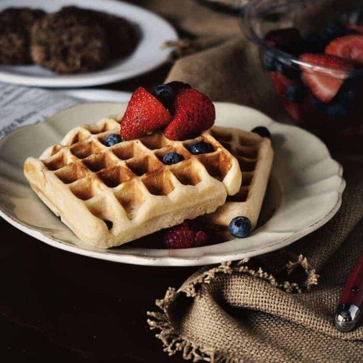Belgian-Style Yeast Waffles