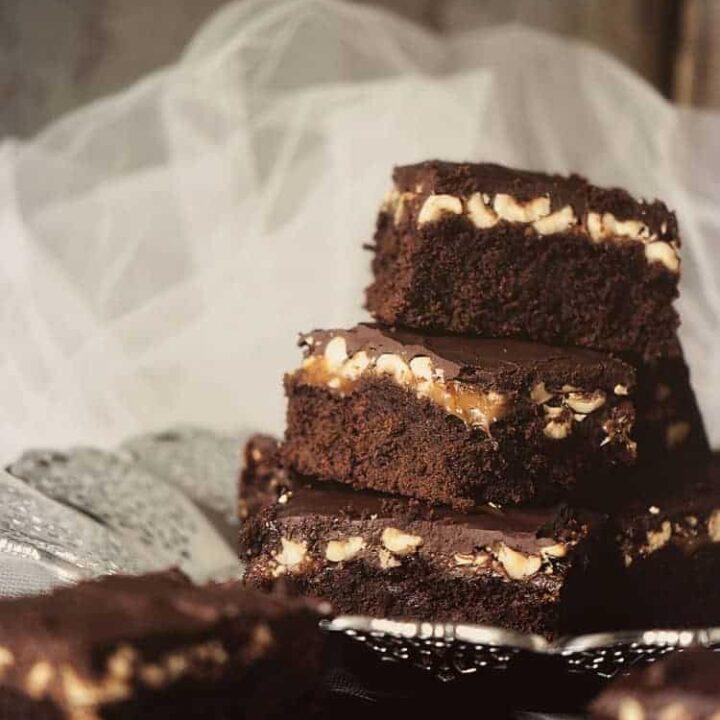 Caramel Hazelnut Brownies | Kita Roberts PassTheSushi.com