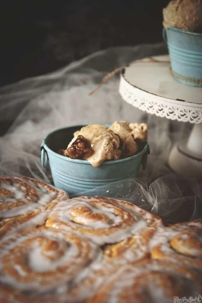 Cinnamon Bun Ice Cream | Kita Roberts PassTheSushi