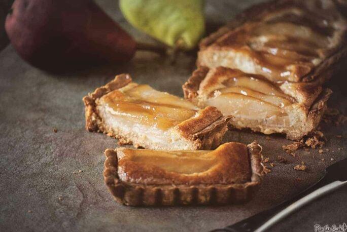 Whiskey Pear Tart | Kita Roberts PassTheSushi.com