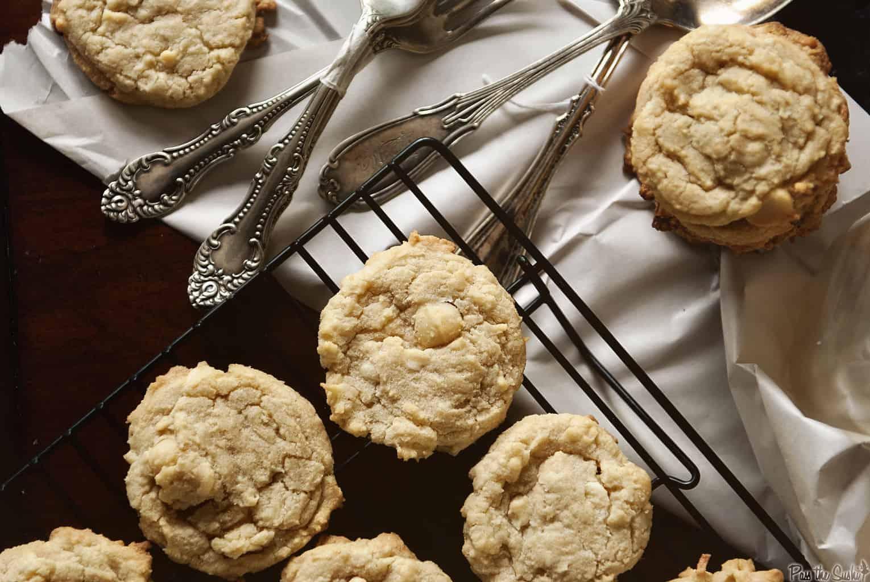 White Chocolate Coconut Macadamia Nut Cookies | Kita Roberts PassTheSushi.com