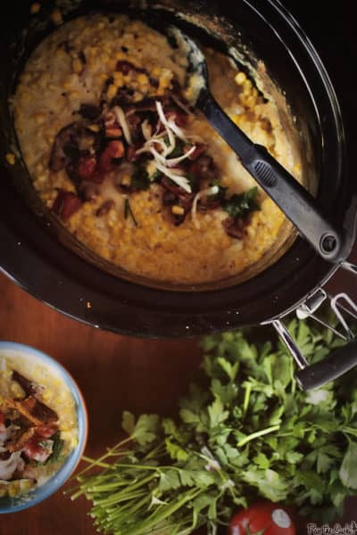 Slow Cooker Loaded Creamed Corn