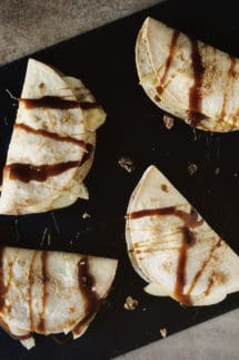 Apple and Brie Dessert Quesadillas