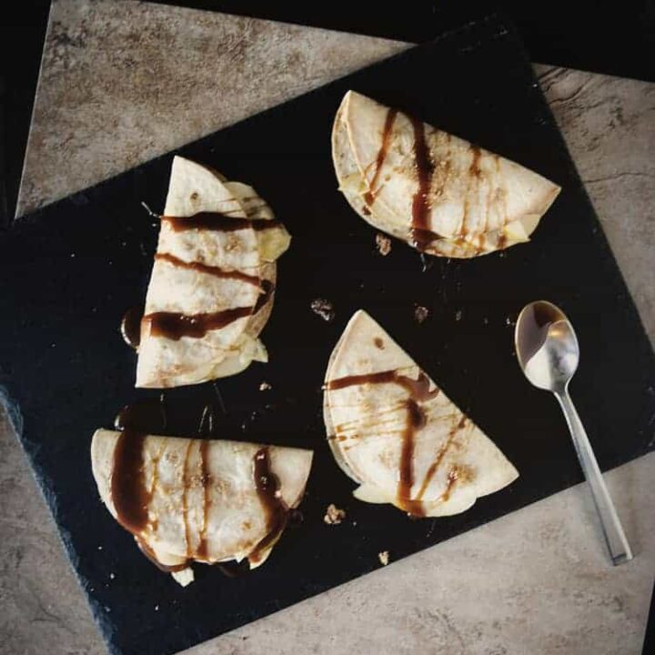 Apple and Brie Dessert Quesadillas | Kita Roberts PassTheSushi.com
