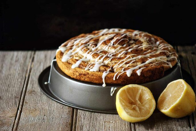 Lemon Cheesecake Coffee Cake | Kita Roberts PassTheSushi.com