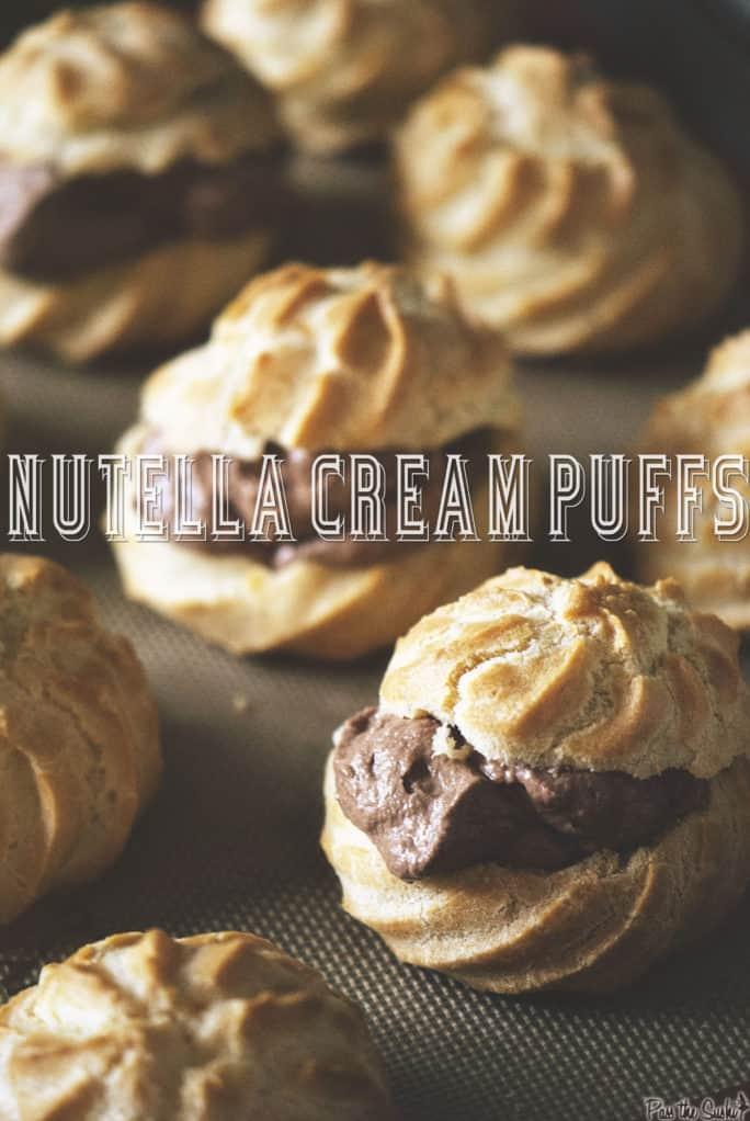Nutella Cream Puffs | Kita Roberts PassTheSushi.com