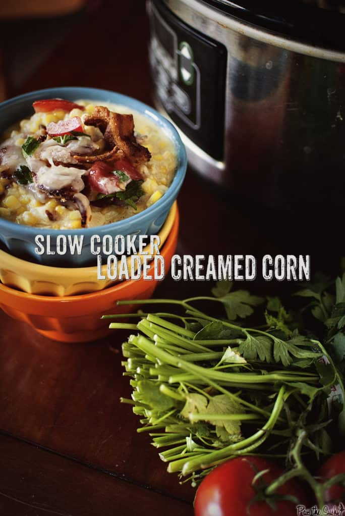 Slow Cooker Loaded Creamed Corn | Kita Roberts PassTheSushi