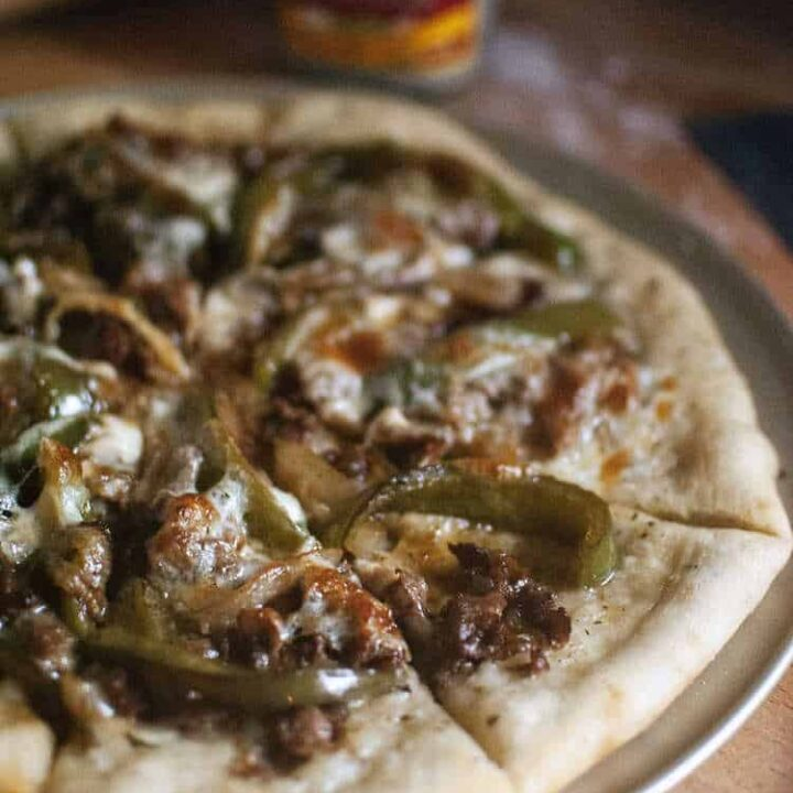 Cheesesteak Pizza | Kita Roberts PassTheSushi.com