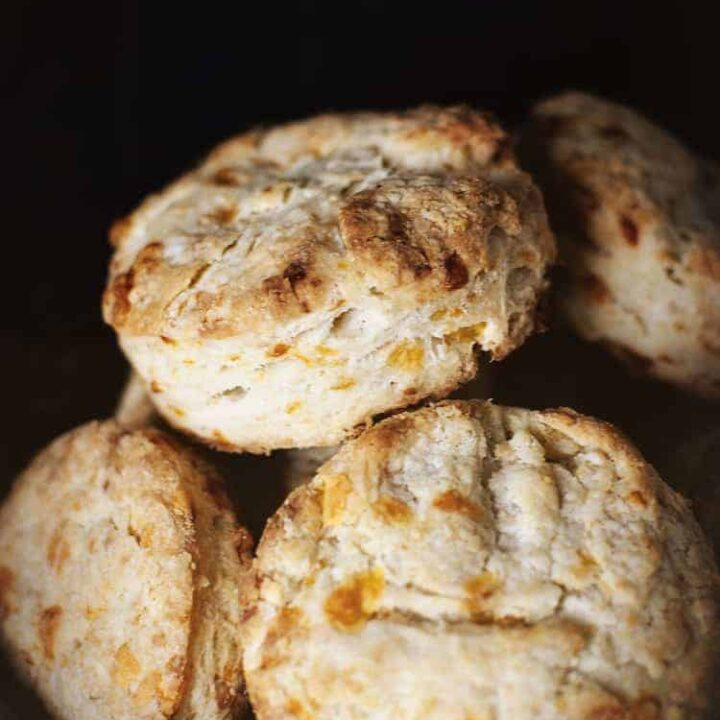 Double Cheddar Biscuits | Kita Roberts PassTheSushi.com