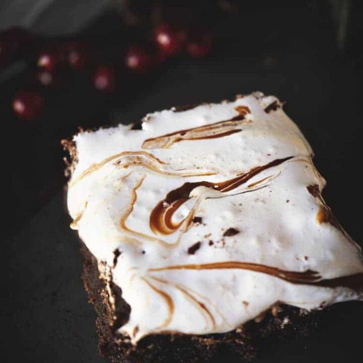 Dulce de Leche Fluff Brownies | Kita Roberts PassTheSushi.com