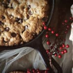 Skillet-Baked Chocolate Chip Cookie from PasstheSushi.com