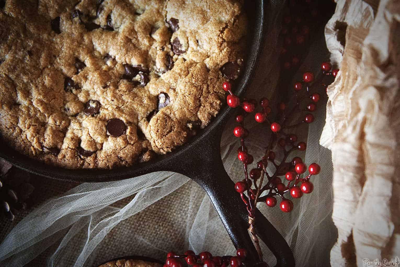 Chocolate Chip Skillet Cookie | Kita Roberts PassTheSushi.com