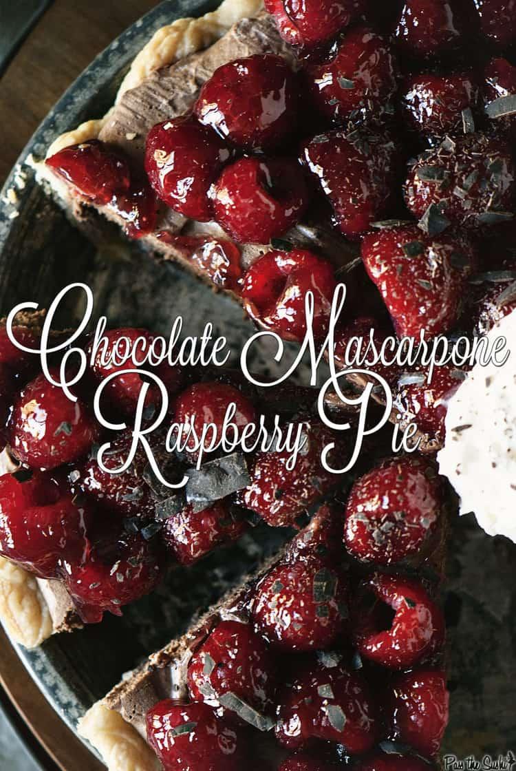 Chocolate Mascarpone Raspberry Pie | Kita Roberts PassTheSushi.com