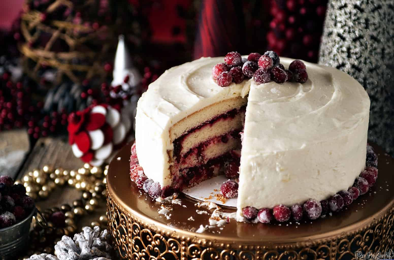 Cranberry Vanilla Bean Cake | Kita Roberts PassTheSushi.com