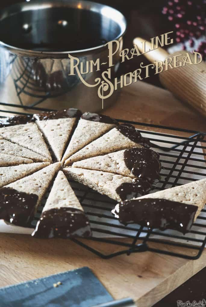 Rum Praline Shortbread | Kita Roberts PassTheSushi.com