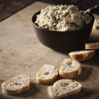 Slow Cooker Lemon Artichoke Dip