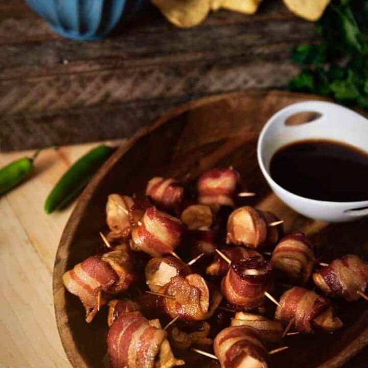 Huli-Huli Bacon Chicken Bites | Kita Roberts PassTheSushi.com