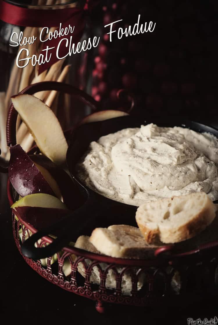 Slow Cooker Goat Cheese Fondue | Kita Roberts PassTheSushi.com