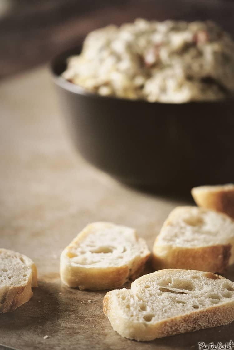 Slow Cooker Lemon Artichoke Dip | Kita Roberts PassThe Sushi.com