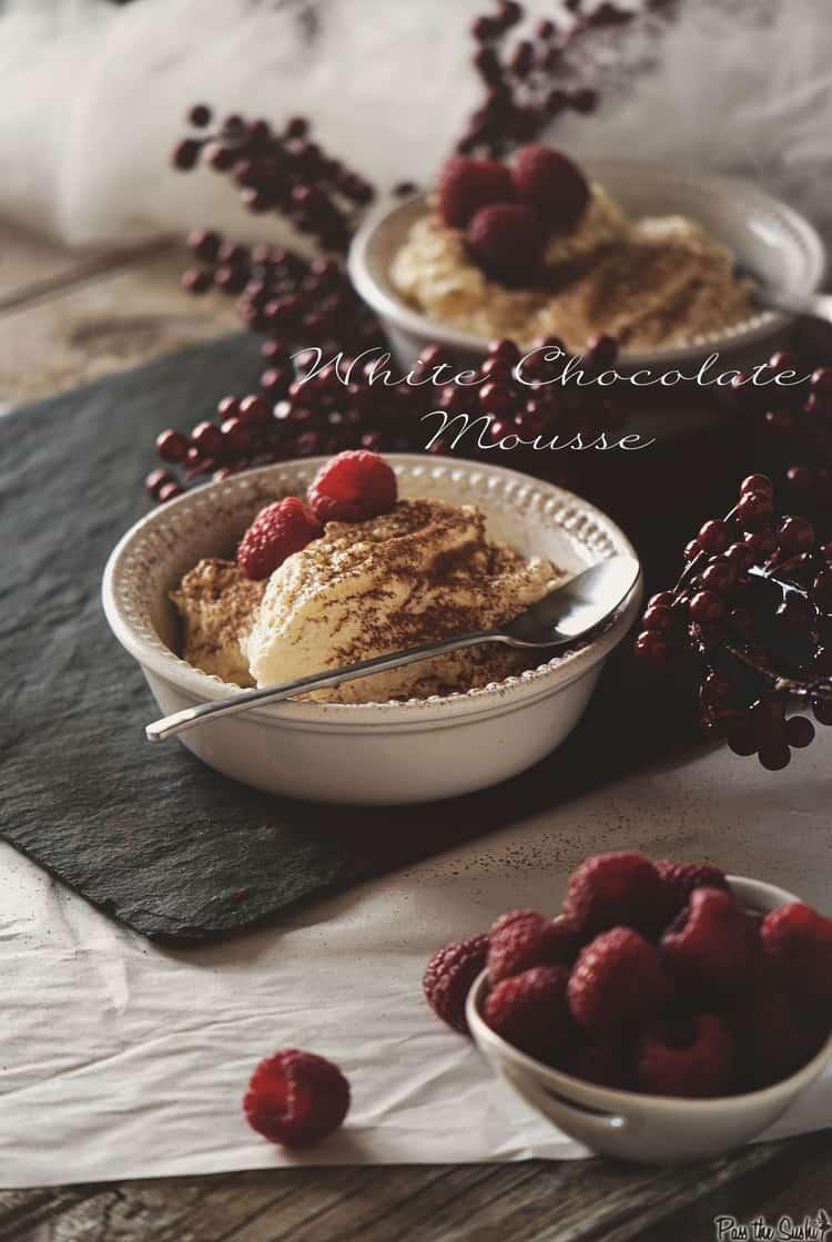 White Chocolate Mousse | Kita Roberts PassTheSushi.com