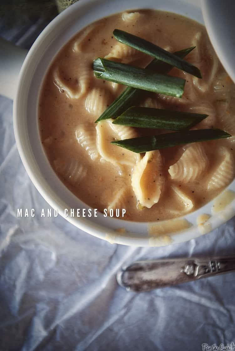 Mac and Cheese Soup | Kita Roberts PassTheSushi.com