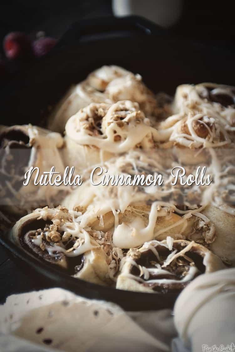 Nutella Cinnamon Rolls | Kita Roberts PassTheSushi.com