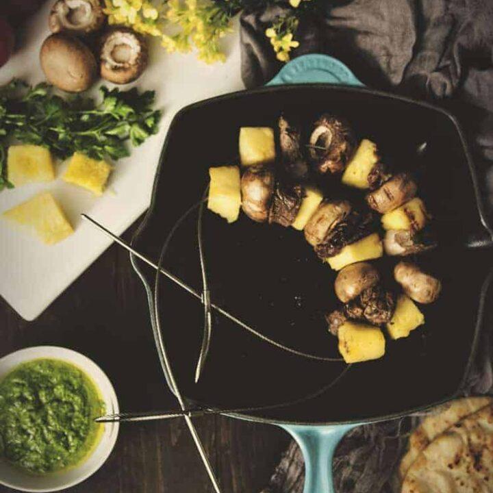 Indoor Grilling: Pineapple-Beef Kabobs