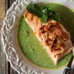 King Salmon with Peas and Mint \ PasstheSushi.com