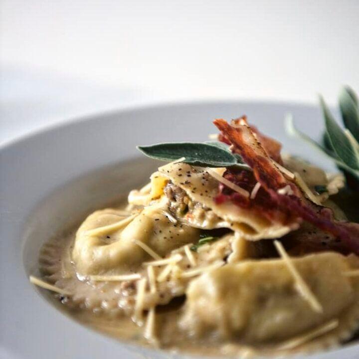 Breakfast Sausage Ravioli | Kita Roberts PassTheSushi.com
