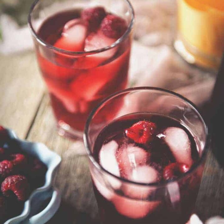 Raspberry Sake Tea Cocktail | Kita Roberts PassTheSushi.com