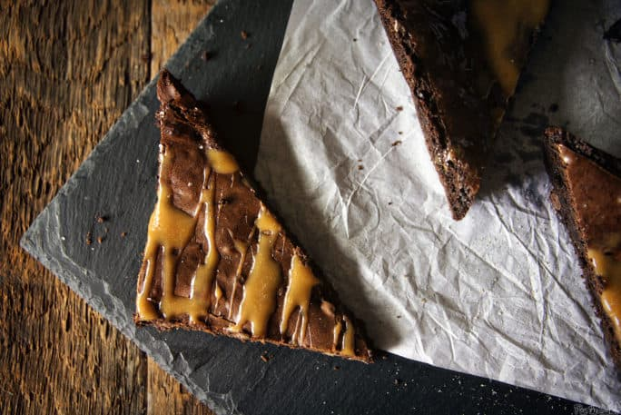 Salted Caramel Brownies | Kita Roberts PassTheSushi.com