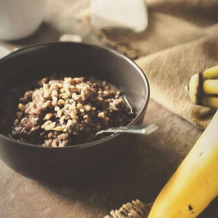 Slow Cooker Banana Oatmeal