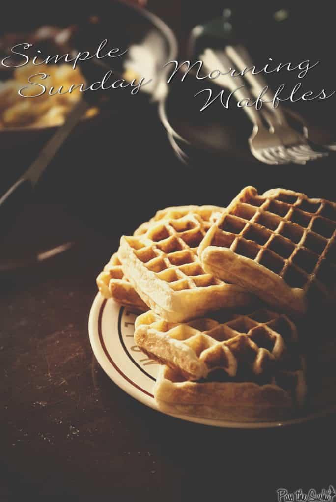 Simple Sunday Morning Waffles Recipe | Kita Roberts PassTheSushi.com