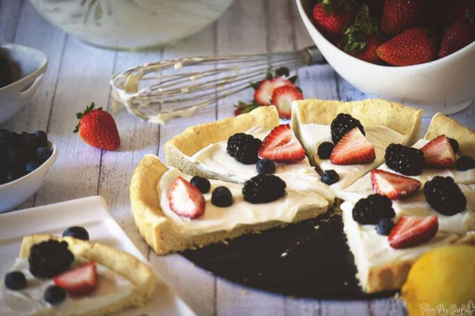 Berry Tart with Lemon Cookie Crust | Kita Roberts PassTheSushi.com