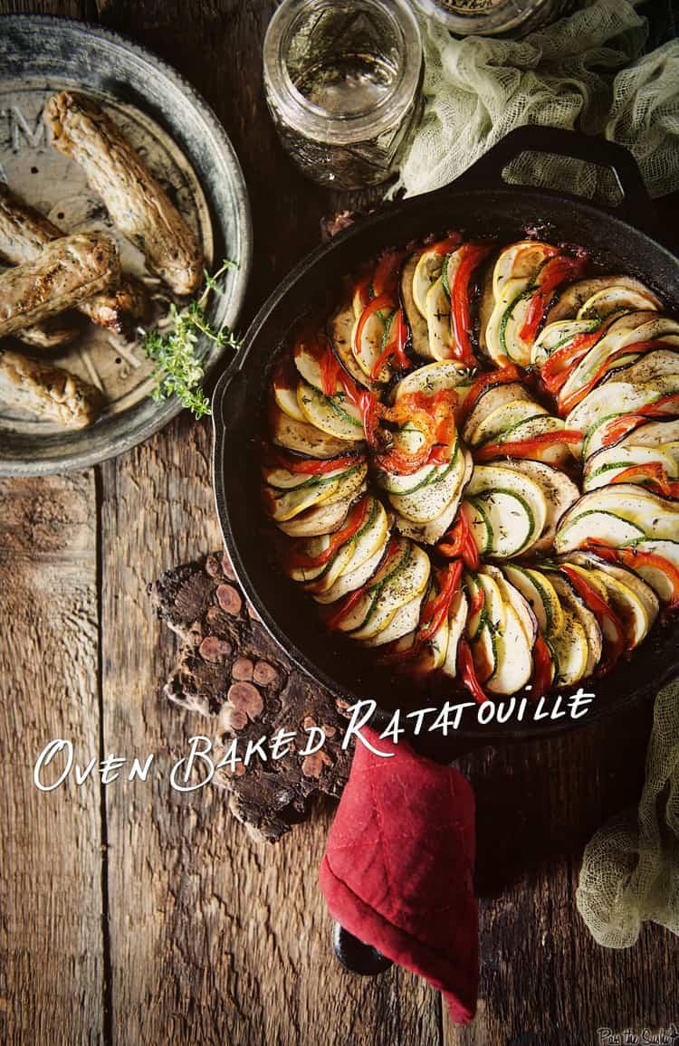 Oven Baked Ratatouille | Kita Roberts PassTheSushi.com